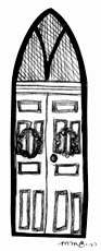 Drawing of front door
